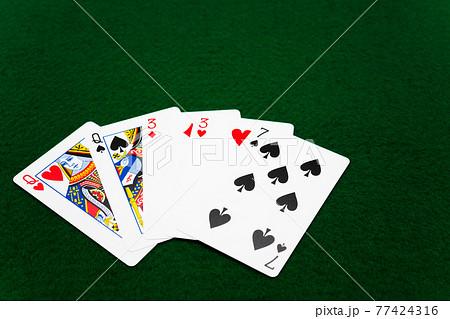 ツーペア ポーカー 77424316