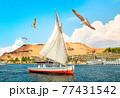 Sailboat in Aswan city 77431542