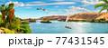 Panorama of river Nile 77431545