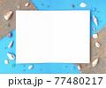 ビーチをイメージした貝殻のメッセージカード 77480217