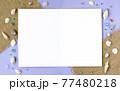 貝殻と麦わらのメッセージカード 77480218