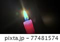 赤いローソク 蝋燭 77481574