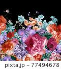 Beautiful elegant watercolor rose flower 77494678