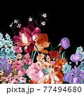 Beautiful elegant watercolor rose flower 77494680