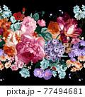 Beautiful elegant watercolor rose flower 77494681
