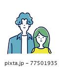 若いカップルのイラスト素材 77501935