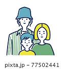 若い3人家族のイラスト素材 77502441