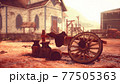 old American wild western style town 77505363