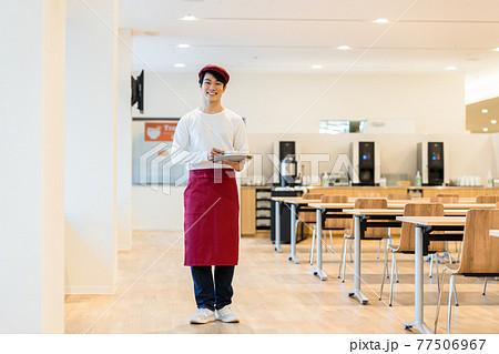 食堂の店員 撮影協力「LINK FOREST」 77506967