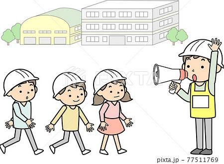小学校での避難訓練 77511769
