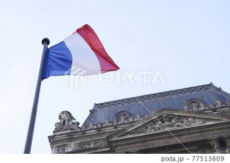 晴れた日のフランスの国旗 77513609