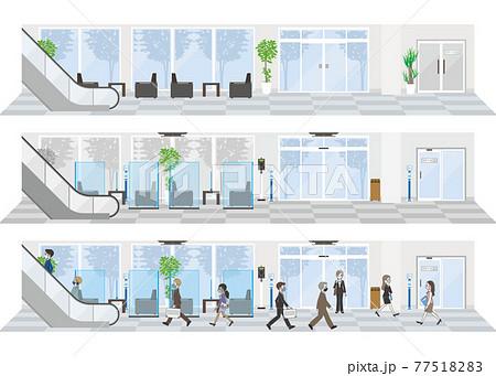 新しいオフィスのスタイル オフィスの感染対策 77518283