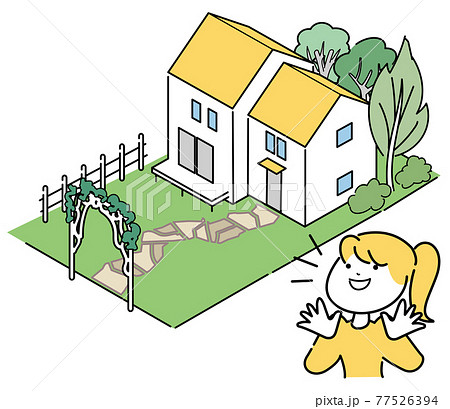 憧れの郊外の家-オシャレなガーデニング 77526394