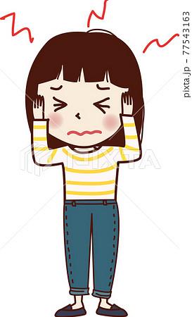 頭(耳)が痛い女の子。 77543163