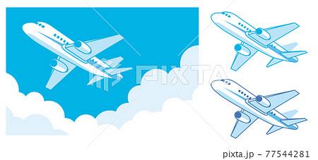 旅客機のイラスト素材 77544281