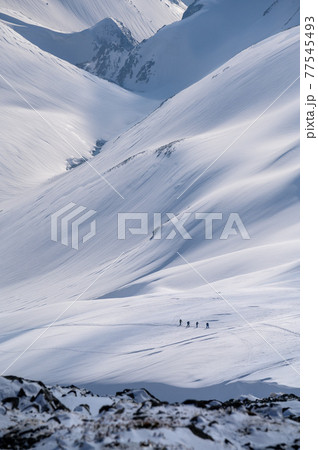 雷鳥沢を登る 77545493