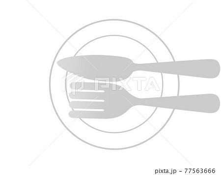 テーブルマナー 食事終了のサイン 77563666