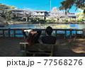 石神井公園デートのカップル 77568276