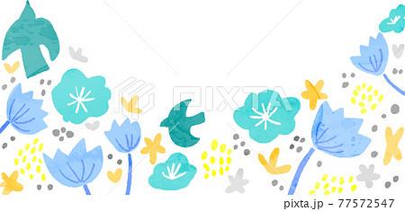 Modern Scandinavian floral background 77572547