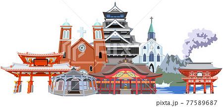 九州沖縄名所観光地集合 77589687
