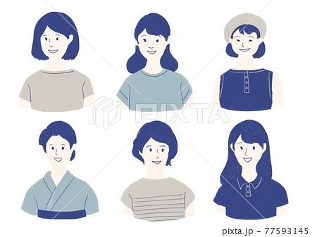 夏服を着た若い女性 77593145
