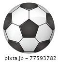 サッカーボールのイメージイラスト(ベクター画像) 77593782