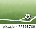 コーナーキックのイメージイラスト(サッカーボール)(ベクター画像) 77593789