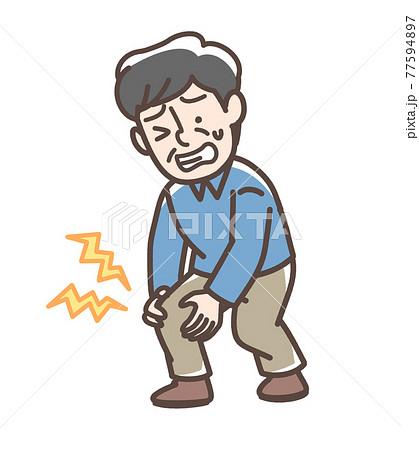 膝が痛い男性 77594897