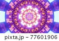 Neon ornament inside geometric tunnel 4K UHD 3D illustration 77601906