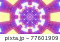 Symmetric bright neon corridor 4K UHD 3D illustration 77601909
