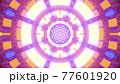 Tunnel with vivid neon lights 4K UHD 3D illustration 77601920