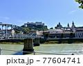 オーストリア、ザルツブルグ城とモーツアルト橋 77604741