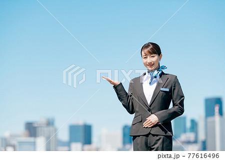 ビジネス 女性 制服 77616496