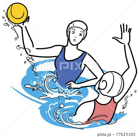 水球-水中の格闘技 77625105