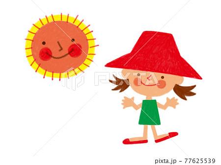 にこにこ顏の太陽と夏が好きな女の子 77625539
