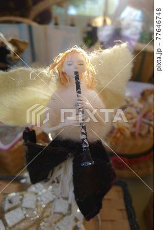 楽器を奏でる妖精たち 77646748