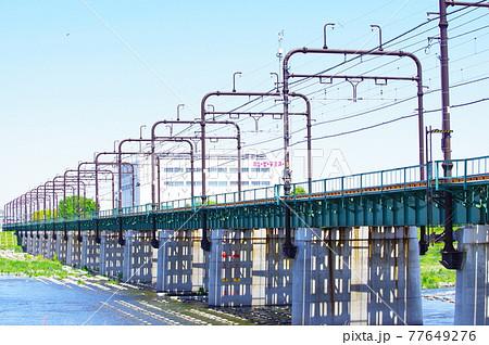 聖蹟桜ヶ丘方面から望む多摩川橋梁 77649276