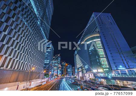 JR大阪駅前 サウスゲートビルディング 夜景 2021年5月 77657099