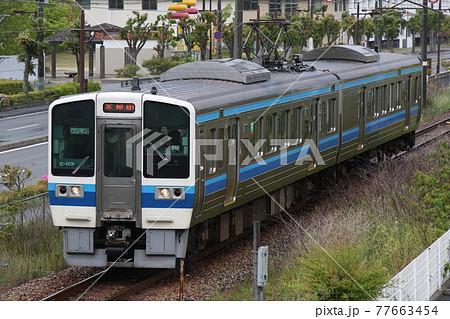 【JR西日本・宇野線】雨のお昼過ぎに宇野~備前田井を往く2両編成の電車 77663454