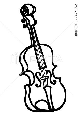リアルなバイオリンの線画 77675352