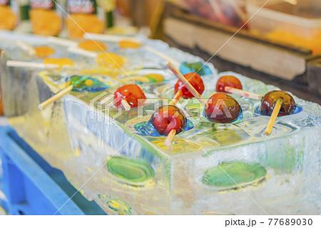 お祭り  出店  飴  飴菓子  和菓子 屋台  縁日 77689030
