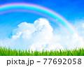 青空 背景素材 77692058