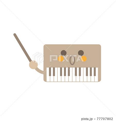 指示棒ピアノ驚く 77707802