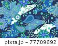 花柄の総柄パターン 77709692