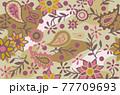 花柄の総柄パターン 77709693