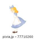 水彩風のアリスのお茶会イラスト アリスと音符 77710260