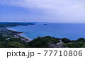 千葉県鋸山山頂近くから望む五月晴れの南房総と東京湾の絶景 77710806