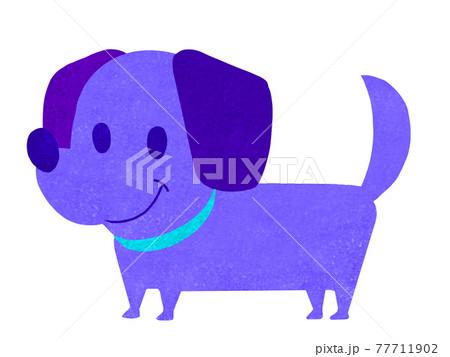 カートゥーンタッチのダックスフント犬イラスト 77711902