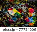 鮮やかなグラデーション・コンテンポラリーアート 77724006