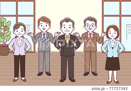 会社で働く人々 77727383